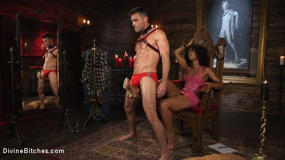 Photo number 2 from Ebony Goddess Misty Stone Doms and Fucks Lance Hart shot for Divine Bitches on Kink.com. Featuring Lance Hart and Misty Stone in hardcore BDSM & Fetish porn.