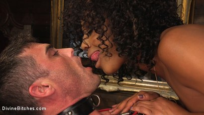 Photo number 15 from Ebony Goddess Misty Stone Doms and Fucks Lance Hart shot for Divine Bitches on Kink.com. Featuring Lance Hart and Misty Stone in hardcore BDSM & Fetish porn.