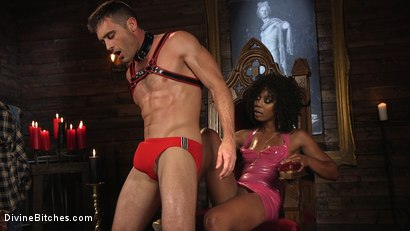 Photo number 3 from Ebony Goddess Misty Stone Doms and Fucks Lance Hart shot for Divine Bitches on Kink.com. Featuring Lance Hart and Misty Stone in hardcore BDSM & Fetish porn.