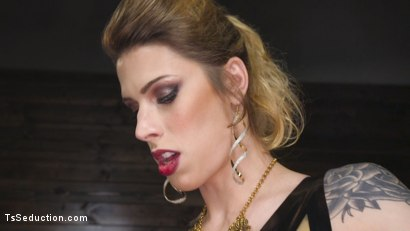 Photo number 12 from Tall Stunning TS Mistress Casey Kisses  shot for TS Seduction on Kink.com. Featuring Lance Hart and Casey Kisses in hardcore BDSM & Fetish porn.