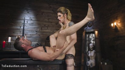 Photo number 24 from Tall Stunning TS Mistress Casey Kisses  shot for TS Seduction on Kink.com. Featuring Lance Hart and Casey Kisses in hardcore BDSM & Fetish porn.