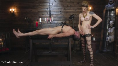 Photo number 30 from Tall Stunning TS Mistress Casey Kisses  shot for TS Seduction on Kink.com. Featuring Lance Hart and Casey Kisses in hardcore BDSM & Fetish porn.
