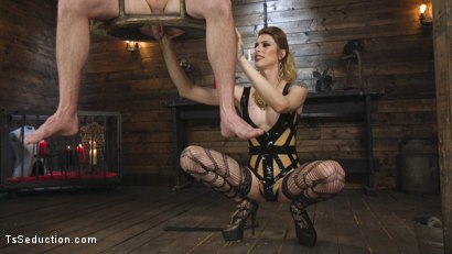 Photo number 4 from Tall Stunning TS Mistress Casey Kisses  shot for TS Seduction on Kink.com. Featuring Lance Hart and Casey Kisses in hardcore BDSM & Fetish porn.