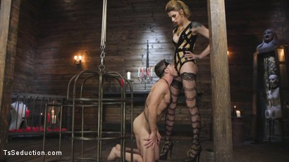 Photo number 9 from Tall Stunning TS Mistress Casey Kisses  shot for TS Seduction on Kink.com. Featuring Lance Hart and Casey Kisses in hardcore BDSM & Fetish porn.