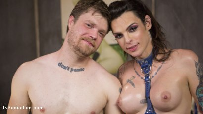 Photo number 29 from Chelsea Marie, A Latex Wet Dream shot for TS Seduction on Kink.com. Featuring Mike Panic and Chelsea Marie in hardcore BDSM & Fetish porn.