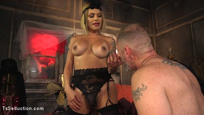 Photo number 1 from TS Foxxy Teases and Fucks D Arclyte shot for TS Seduction on Kink.com. Featuring TS Foxxy and D. Arclyte in hardcore BDSM & Fetish porn.