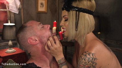 Photo number 2 from TS Foxxy Teases and Fucks D Arclyte shot for TS Seduction on Kink.com. Featuring TS Foxxy and D. Arclyte in hardcore BDSM & Fetish porn.