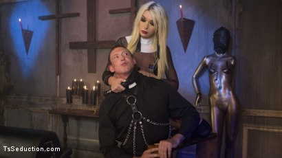Photo number 1 from Sister Aubrey Kate Punishes Priest Pierce Paris shot for TS Seduction on Kink.com. Featuring Pierce Paris and Aubrey Kate in hardcore BDSM & Fetish porn.
