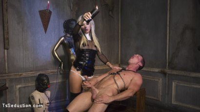 Photo number 12 from Sister Aubrey Kate Punishes Priest Pierce Paris shot for TS Seduction on Kink.com. Featuring Pierce Paris and Aubrey Kate in hardcore BDSM & Fetish porn.