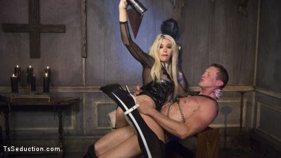 Photo number 15 from Sister Aubrey Kate Punishes Priest Pierce Paris shot for TS Seduction on Kink.com. Featuring Pierce Paris and Aubrey Kate in hardcore BDSM & Fetish porn.