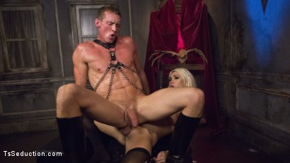 Photo number 22 from Sister Aubrey Kate Punishes Priest Pierce Paris shot for TS Seduction on Kink.com. Featuring Pierce Paris and Aubrey Kate in hardcore BDSM & Fetish porn.