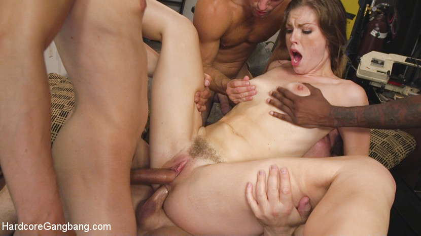 Download HardcoreGangbang.com - Ella Nova Fucked by Stepbrother and His Friends