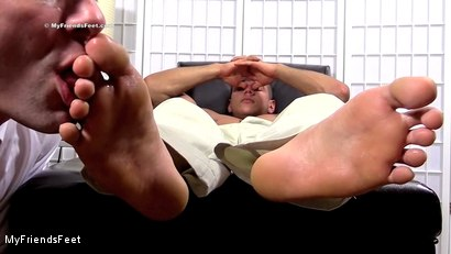 Photo number 11 from Joshua Foot Dominates His Boss shot for My Friends Feet on Kink.com. Featuring Joshua Armstrong and Cameron Kincade in hardcore BDSM & Fetish porn.