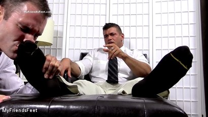 Photo number 3 from Joshua Foot Dominates His Boss shot for My Friends Feet on Kink.com. Featuring Joshua Armstrong and Cameron Kincade in hardcore BDSM & Fetish porn.