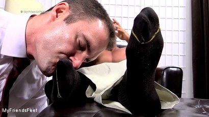 Photo number 6 from Joshua Foot Dominates His Boss shot for My Friends Feet on Kink.com. Featuring Joshua Armstrong and Cameron Kincade in hardcore BDSM & Fetish porn.
