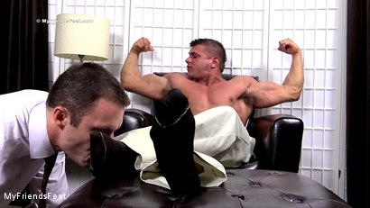 Photo number 5 from Joshua Foot Dominates His Boss shot for My Friends Feet on Kink.com. Featuring Joshua Armstrong and Cameron Kincade in hardcore BDSM & Fetish porn.