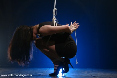 Photo number 1 from Maya Mathews   In The First Ever   Fishline Only Suspension shot for Water Bondage on Kink.com. Featuring Maya Matthews in hardcore BDSM & Fetish porn.