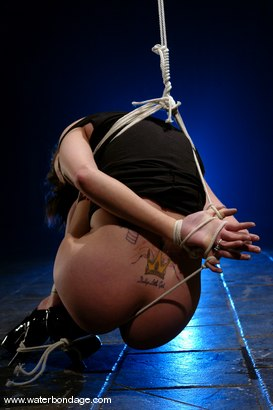 Photo number 4 from Maya Mathews   In The First Ever   Fishline Only Suspension shot for Water Bondage on Kink.com. Featuring Maya Matthews in hardcore BDSM & Fetish porn.