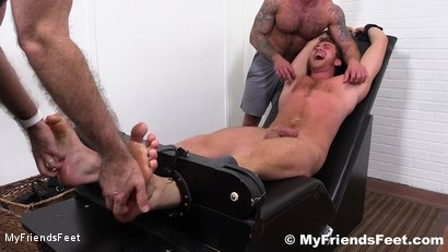 Photo number 14 from Connor Maguire Jerked & Tickle Tormented shot for My Friends Feet on Kink.com. Featuring Rich, Drake Jaden and Connor Maguire in hardcore BDSM & Fetish porn.