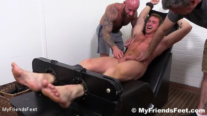 Photo number 15 from Connor Maguire Jerked & Tickle Tormented shot for My Friends Feet on Kink.com. Featuring Rich, Drake Jaden and Connor Maguire in hardcore BDSM & Fetish porn.