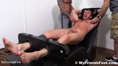 Photo number 16 from Connor Maguire Jerked & Tickle Tormented shot for My Friends Feet on Kink.com. Featuring Rich, Drake Jaden and Connor Maguire in hardcore BDSM & Fetish porn.