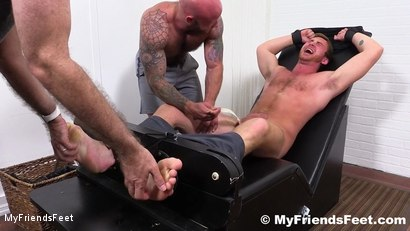 Photo number 10 from Connor Maguire Jerked & Tickle Tormented shot for My Friends Feet on Kink.com. Featuring Rich, Drake Jaden and Connor Maguire in hardcore BDSM & Fetish porn.