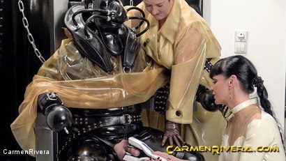 Photo number 12 from Rubber Special: Chapter Two shot for Carmen Rivera on Kink.com. Featuring Carmen Rivera, Herrin Anna von Sax and Gummi-Objekt in hardcore BDSM & Fetish porn.