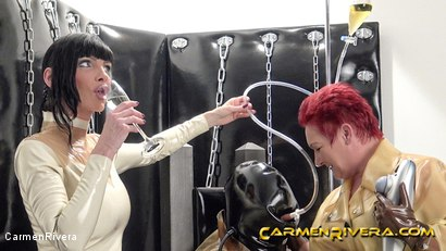 Photo number 13 from Rubber Special: Chapter Two shot for Carmen Rivera on Kink.com. Featuring Carmen Rivera, Herrin Anna von Sax and Gummi-Objekt in hardcore BDSM & Fetish porn.