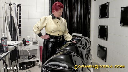 Photo number 8 from Rubber Special: Chapter Two shot for Carmen Rivera on Kink.com. Featuring Carmen Rivera, Herrin Anna von Sax and Gummi-Objekt in hardcore BDSM & Fetish porn.