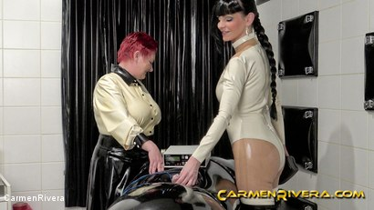 Photo number 9 from Rubber Special: Chapter Two shot for Carmen Rivera on Kink.com. Featuring Carmen Rivera, Herrin Anna von Sax and Gummi-Objekt in hardcore BDSM & Fetish porn.