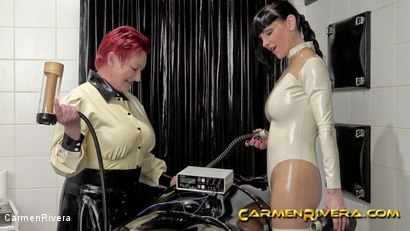 Photo number 10 from Rubber Special: Chapter Two shot for Carmen Rivera on Kink.com. Featuring Carmen Rivera, Herrin Anna von Sax and Gummi-Objekt in hardcore BDSM & Fetish porn.