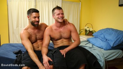 Photo number 14 from Obsessive Anal Penetration Disorder shot for Bound Gods on Kink.com. Featuring Tristan Jaxx and Brian Bonds in hardcore BDSM & Fetish porn.