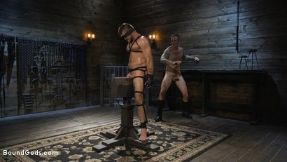 Photo number 11 from Huge-Dicked Sub Jack Andy Gets An Intense Beating From Christian Wilde shot for Bound Gods on Kink.com. Featuring Christian Wilde and Jack Andy in hardcore BDSM & Fetish porn.