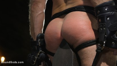 Photo number 12 from Huge-Dicked Sub Jack Andy Gets An Intense Beating From Christian Wilde shot for Bound Gods on Kink.com. Featuring Christian Wilde and Jack Andy in hardcore BDSM & Fetish porn.