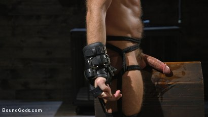 Photo number 13 from Huge-Dicked Sub Jack Andy Gets An Intense Beating From Christian Wilde shot for Bound Gods on Kink.com. Featuring Christian Wilde and Jack Andy in hardcore BDSM & Fetish porn.