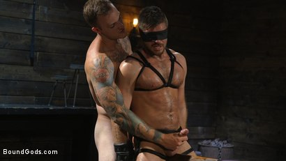 Photo number 15 from Huge-Dicked Sub Jack Andy Gets An Intense Beating From Christian Wilde shot for Bound Gods on Kink.com. Featuring Christian Wilde and Jack Andy in hardcore BDSM & Fetish porn.