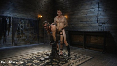 Photo number 16 from Huge-Dicked Sub Jack Andy Gets An Intense Beating From Christian Wilde shot for Bound Gods on Kink.com. Featuring Christian Wilde and Jack Andy in hardcore BDSM & Fetish porn.