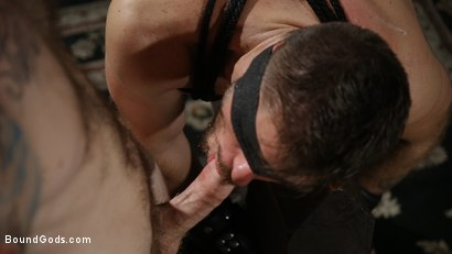 Photo number 21 from Huge-Dicked Sub Jack Andy Gets An Intense Beating From Christian Wilde shot for Bound Gods on Kink.com. Featuring Christian Wilde and Jack Andy in hardcore BDSM & Fetish porn.