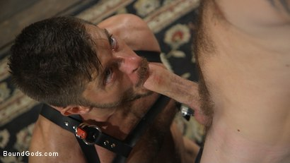 Photo number 8 from Huge-Dicked Sub Jack Andy Gets An Intense Beating From Christian Wilde shot for Bound Gods on Kink.com. Featuring Christian Wilde and Jack Andy in hardcore BDSM & Fetish porn.