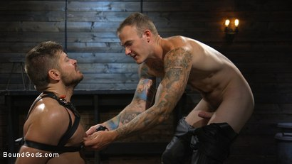 Photo number 10 from Huge-Dicked Sub Jack Andy Gets An Intense Beating From Christian Wilde shot for Bound Gods on Kink.com. Featuring Christian Wilde and Jack Andy in hardcore BDSM & Fetish porn.