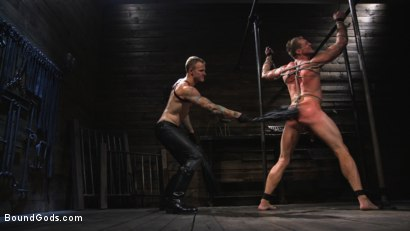 Photo number 6 from Captive God Pierce Paris: Bound in Rope Bondage and Fucked by Hot Stud shot for Bound Gods on Kink.com. Featuring Pierce Paris and Christian Wilde in hardcore BDSM & Fetish porn.