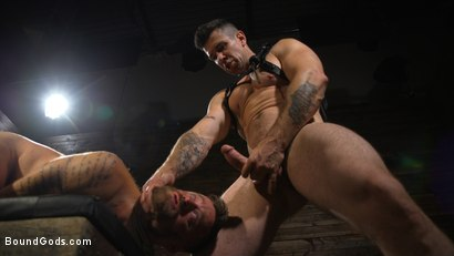 Photo number 16 from Pleasure and Pain for Trenton Ducati's New Submissive Slut shot for Bound Gods on Kink.com. Featuring Trenton Ducati and Hoytt Walker in hardcore BDSM & Fetish porn.