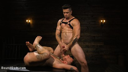 Photo number 17 from Pleasure and Pain for Trenton Ducati's New Submissive Slut shot for Bound Gods on Kink.com. Featuring Trenton Ducati and Hoytt Walker in hardcore BDSM & Fetish porn.