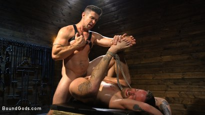Photo number 4 from Pleasure and Pain for Trenton Ducati's New Submissive Slut shot for Bound Gods on Kink.com. Featuring Trenton Ducati and Hoytt Walker in hardcore BDSM & Fetish porn.