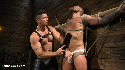 Photo number 6 from Pleasure and Pain for Trenton Ducati's New Submissive Slut shot for Bound Gods on Kink.com. Featuring Trenton Ducati and Hoytt Walker in hardcore BDSM & Fetish porn.