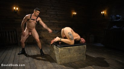 Photo number 9 from Pleasure and Pain for Trenton Ducati's New Submissive Slut shot for Bound Gods on Kink.com. Featuring Trenton Ducati and Hoytt Walker in hardcore BDSM & Fetish porn.