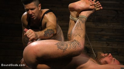 Photo number 15 from Pleasure and Pain for Trenton Ducati's New Submissive Slut shot for Bound Gods on Kink.com. Featuring Trenton Ducati and Hoytt Walker in hardcore BDSM & Fetish porn.