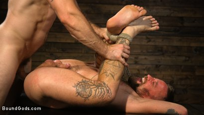 Photo number 19 from Pleasure and Pain for Trenton Ducati's New Submissive Slut shot for Bound Gods on Kink.com. Featuring Trenton Ducati and Hoytt Walker in hardcore BDSM & Fetish porn.