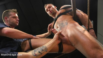 Photo number 11 from Motorcycle Mechanic Stud Gets His Road Hard Hog Ridden to the Edge shot for Men On Edge on Kink.com. Featuring Kai Donec in hardcore BDSM & Fetish porn.