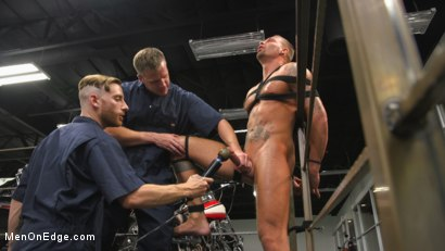 Photo number 12 from Motorcycle Mechanic Stud Gets His Road Hard Hog Ridden to the Edge shot for Men On Edge on Kink.com. Featuring Kai Donec in hardcore BDSM & Fetish porn.